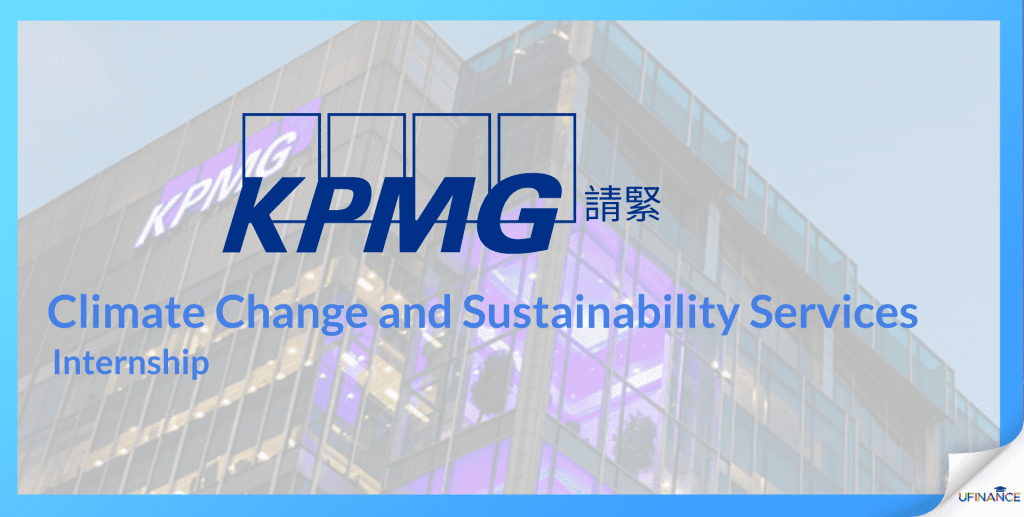 【Big Four!KPMG!】Climate Change and Sustainability Services – Intern (Part-time/ Full time)