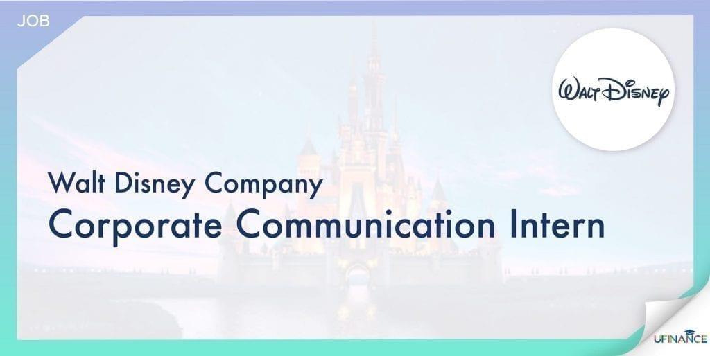 【鐘意迪士尼嘅望喺呢度!】Walt Disney Company - Corporate Communication Intern-01-min