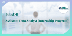 【JobsDB請人】Assistant Data Analyst (Internship Program)