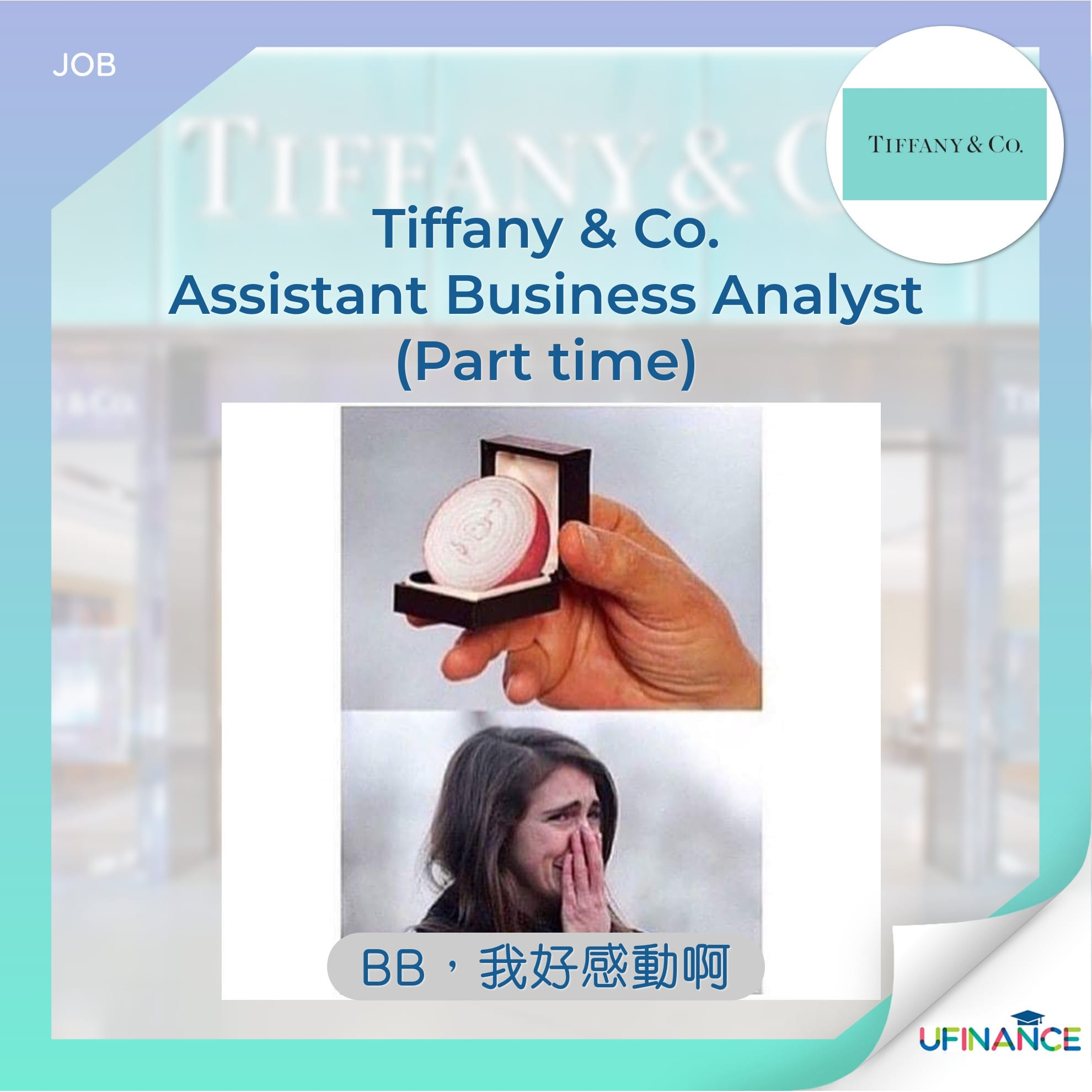 【名媛淑女】Tiffany & Co. - Assistant Business Analyst (Part time)
